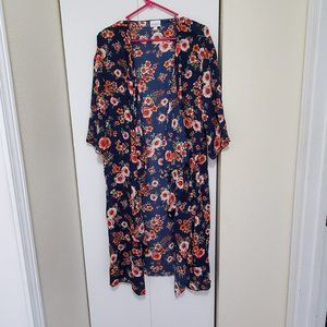 Navy Floral Print Medium LuLaRoe Shirley